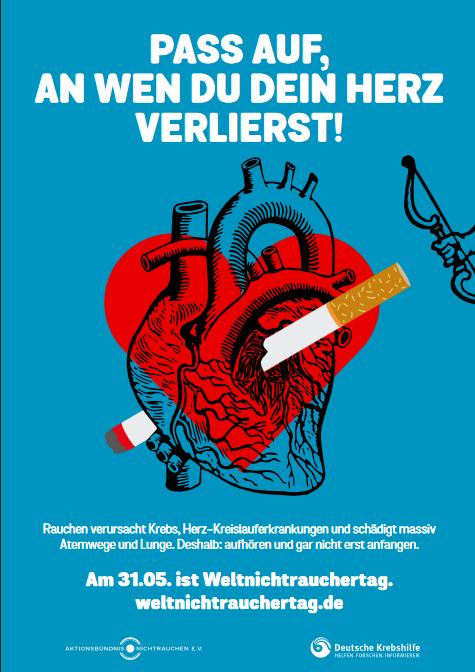 Plakatmotiv Weltnichtrauchertag 2018