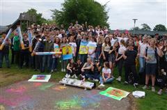 Aktion von Schüler/innen der Jodocus Nünning Gesamtschule Borken. Foto: Werner Rasch